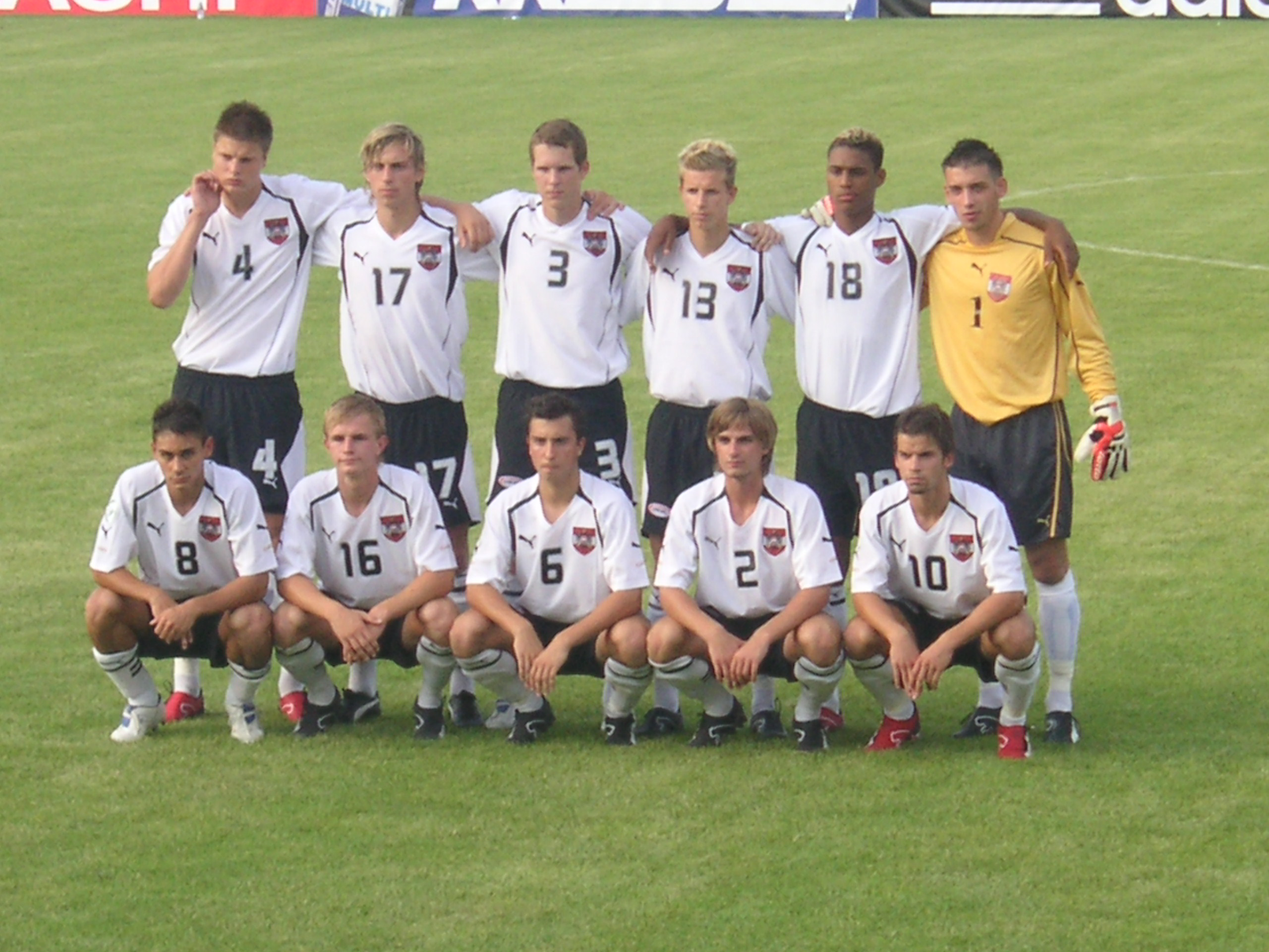 Peter Hackmair with the Austrian U17 national team (© private archives).