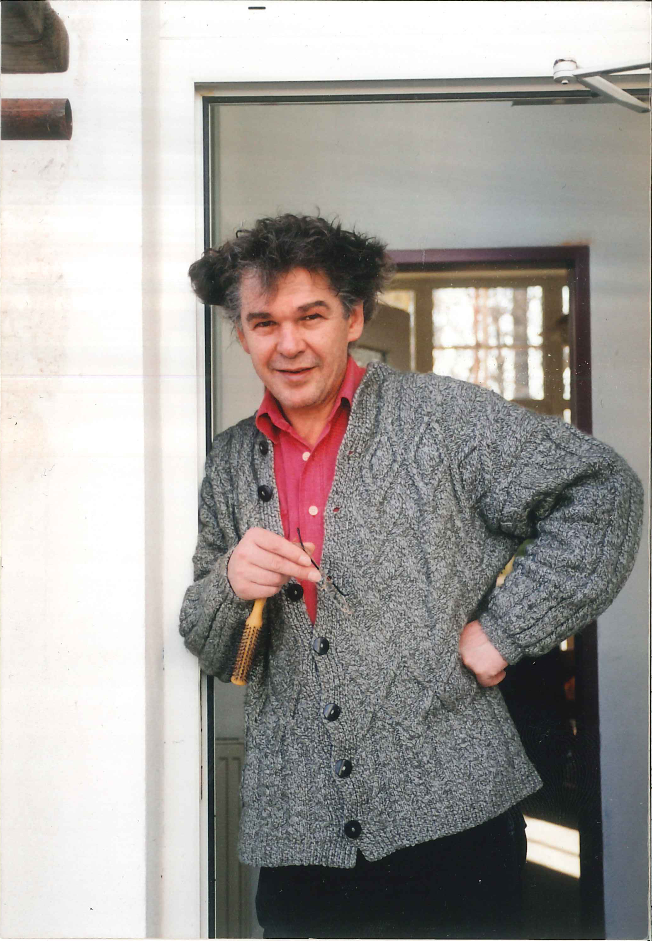 Heini Staudinger in his new home Schrems, 1991